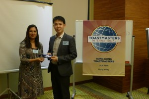 2014-06-30 Best Table Topic Speaker - Andrew Yeung