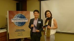 2014-07-07 Best Speaker: Andrew Yeung Best Table Topic Speaker: Rita Tsui