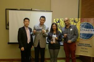 Best Speaker: Yogesh, Best TT: Aparna, Best Evaluator: Arthur Ting