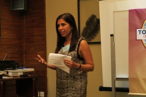 Aparna giving feedback